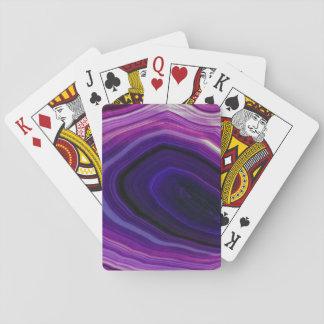 Falln Swirled Purple Geode Playing Cards