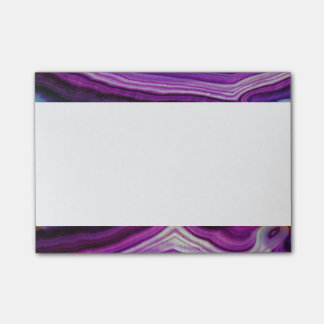 Falln Swirled Purple Geode Post-it Notes
