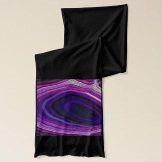 Falln Swirled Purple Geode Scarf