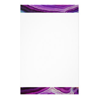 Falln Swirled Purple Geode Stationery
