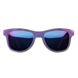 Falln Swirled Purple Geode Sunglasses