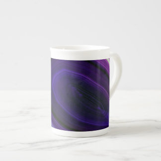 Falln Swirled Purple Geode Tea Cup