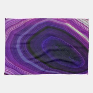 Falln Swirled Purple Geode Tea Towel