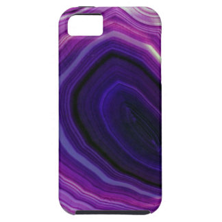 Falln Swirled Purple Geode Tough iPhone 5 Case