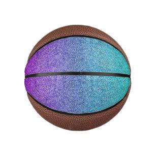 Falln Tropical Dusk Glitter Gradient Mini Basketball