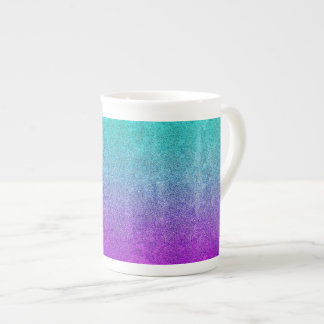 Falln Tropical Dusk Glitter Gradient Tea Cup