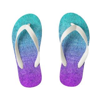 Falln Tropical Dusk Glitter Gradient Thongs