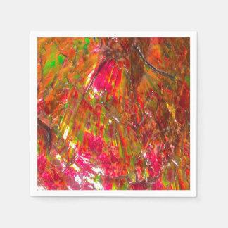 Falln Tropical Sunset Ammolite Paper Napkin
