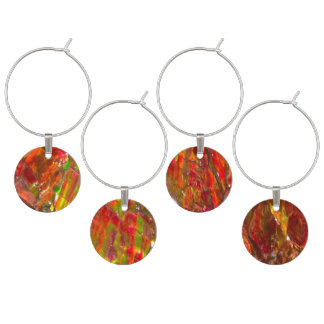 Falln Tropical Sunset Ammolite Wine Charms