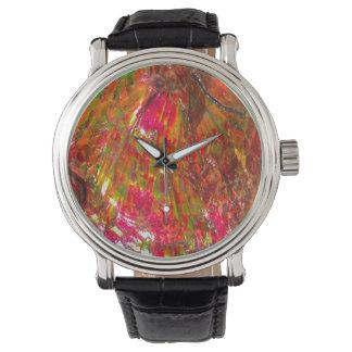 Falln Tropical Sunset Ammolite Wristwatches