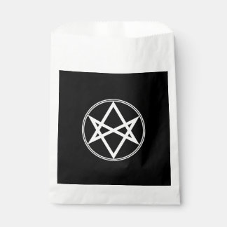 Falln Unicursal Hexagram White Favour Bag