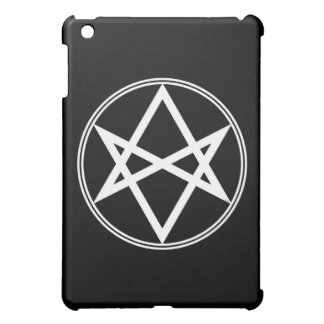 Falln Unicursal Hexagram White iPad Mini Cover