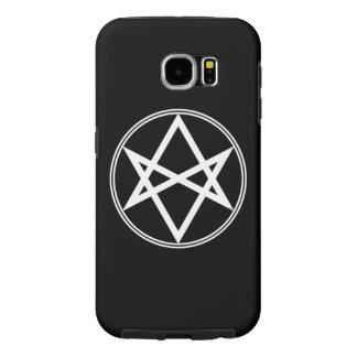 Falln Unicursal Hexagram White Samsung Galaxy S6 Cases