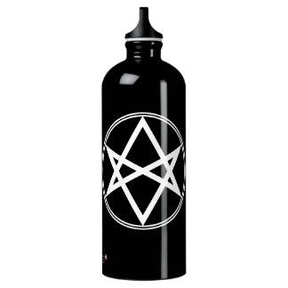 Falln Unicursal Hexagram White Water Bottle