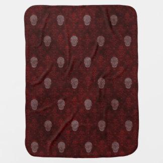 Falln Victorian Skulls Red Buggy Blanket