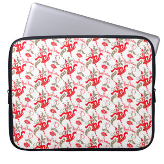 Falln Vintage Merry Christmas Candles Laptop Sleeve