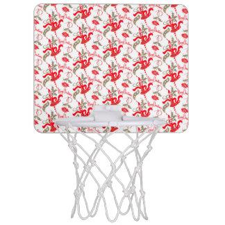 Falln Vintage Merry Christmas Candles Mini Basketball Hoop