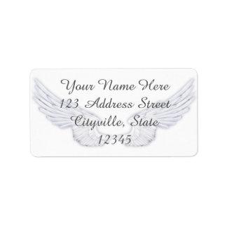 Falln White Angel Wings Address Label