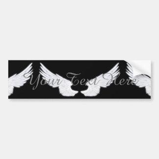Falln White Angel Wings Bumper Sticker