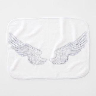 Falln White Angel Wings Burp Cloth