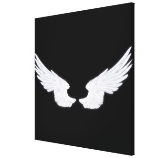 Falln White Angel Wings Canvas Print