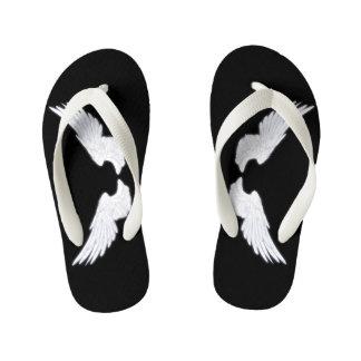 Falln White Angel Wings Kid's Thongs