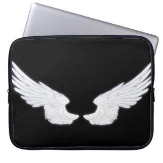 Falln White Angel Wings Laptop Sleeve