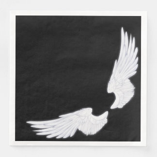 Falln White Angel Wings Paper Serviettes