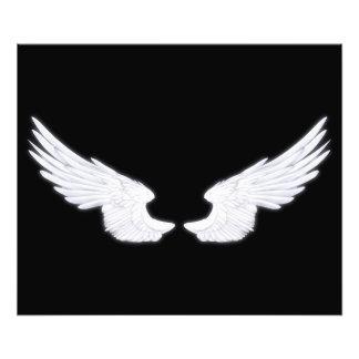 Falln White Angel Wings Photo Print