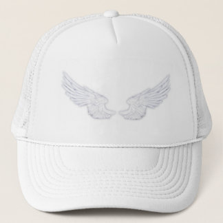 Falln White Angel Wings Trucker Hat