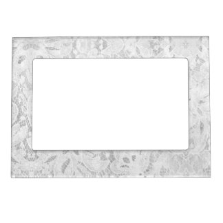 Falln White Lace Picture Frame Magnet