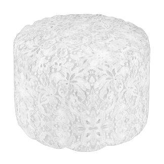 Falln White Lace Pouf