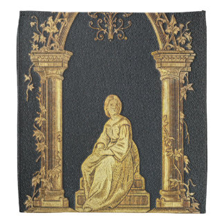 Falln Woman in Gold Book Cover Bandana