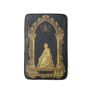 Falln Woman in Gold Book Cover Bath Mat