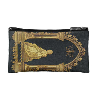 Falln Woman in Gold Book Cover Cosmetic Bag