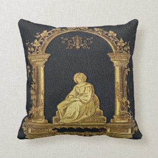 Falln Woman in Gold Book Cover Cushion