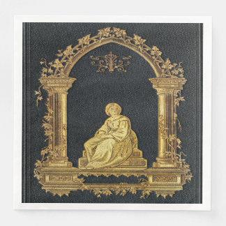 Falln Woman in Gold Book Cover Disposable Napkin