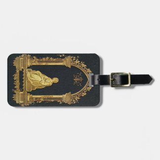 Falln Woman in Gold Book Cover Luggage Tag