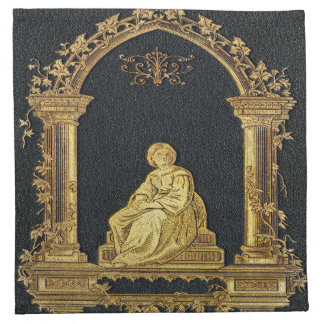 Falln Woman in Gold Book Cover Napkin