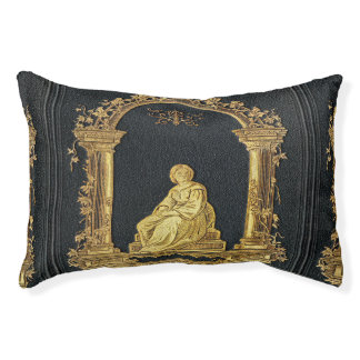 Falln Woman in Gold Book Cover Pet Bed