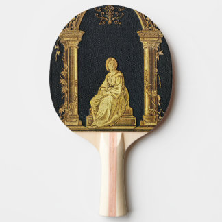 Falln Woman in Gold Book Cover Ping Pong Paddle