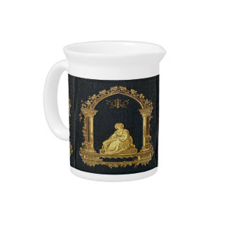 Falln Woman in Gold Book Cover Pitcher