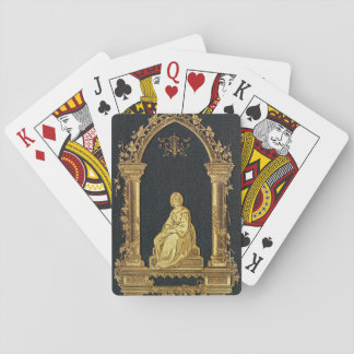 Falln Woman in Gold Book Cover Playing Cards