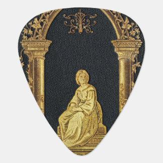 Falln Woman in Gold Book Cover Plectrum