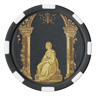 Falln Woman in Gold Book Cover Poker Chips