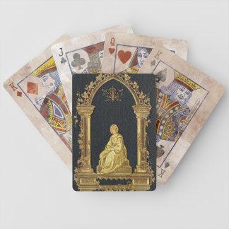 Falln Woman in Gold Book Cover Poker Deck