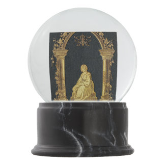 Falln Woman in Gold Book Cover Snow Globes