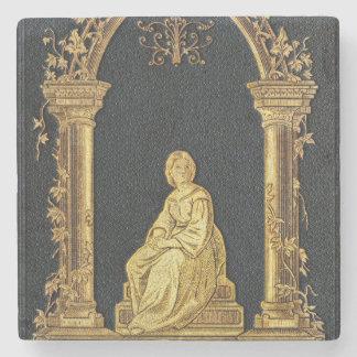 Falln Woman in Gold Book Cover Stone Coaster