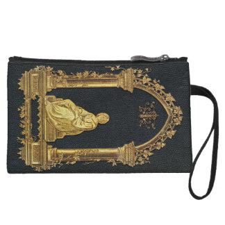 Falln Woman in Gold Book Cover Wristlet