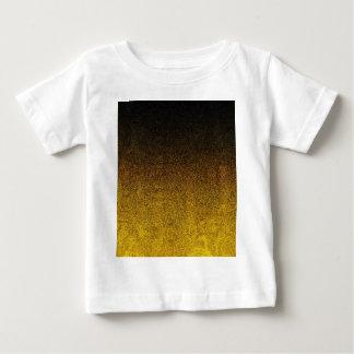 Falln Yellow & Black Glitter Gradient Baby T-Shirt